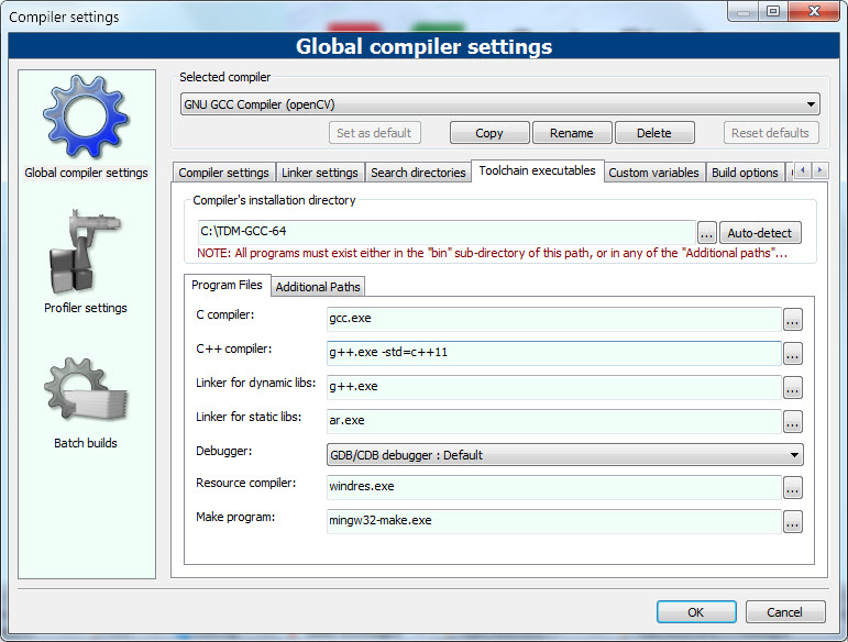 Installing OpenCV 4 x x for for C++, Windows 7 or 10, Using Code
